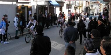 Arrivo della gara Paolo Colonna in testa